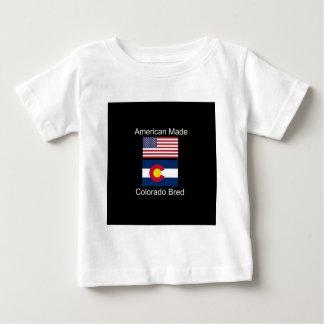 """American Born..Colorado Bred"" Flag Design Baby T-Shirt"