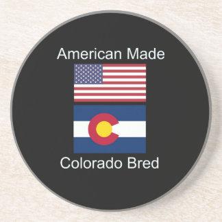 """American Born..Colorado Bred"" Flag Design Coasters"