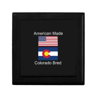 """American Born..Colorado Bred"" Flag Design Gift Boxes"