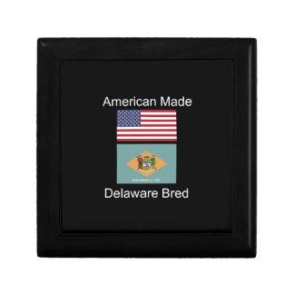 """American Born..Delaware Bred"" Flag Design Gift Boxes"