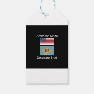 """American Born..Delaware Bred"" Flag Design Gift Tags"