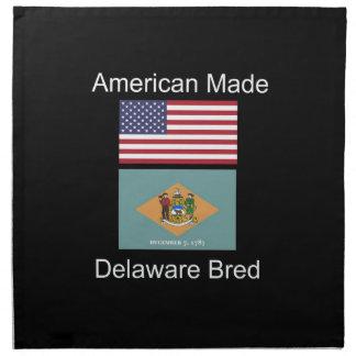 """""""American Born..Delaware Bred"""" Flag Design Napkin"""