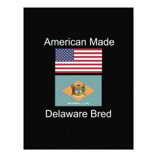 """""""American Born..Delaware Bred"""" Flag Design Personalized Letterhead"""