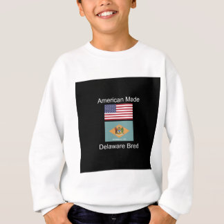 """American Born..Delaware Bred"" Flag Design Sweatshirt"