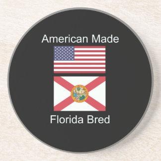 """American Born..Florida Bred"" Flags and Patriotism Beverage Coasters"