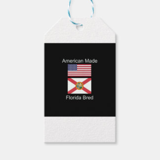 """American Born..Florida Bred"" Flags and Patriotism Gift Tags"