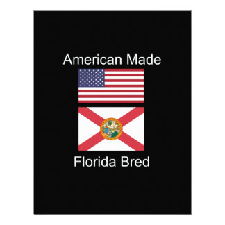 """""""American Born..Florida Bred"""" Flags and Patriotism Letterhead"""