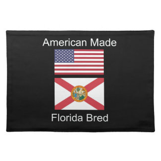 """American Born..Florida Bred"" Flags and Patriotism Placemat"