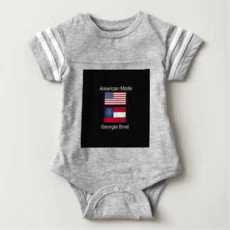"""American Born..Georgia Bred"" Flags and Patriotism Baby Bodysuit"