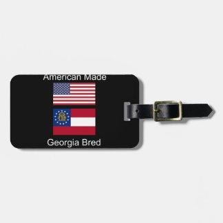 """""""American Born..Georgia Bred"""" Flags and Patriotism Bag Tag"""