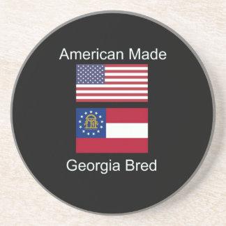 """American Born..Georgia Bred"" Flags and Patriotism Beverage Coasters"
