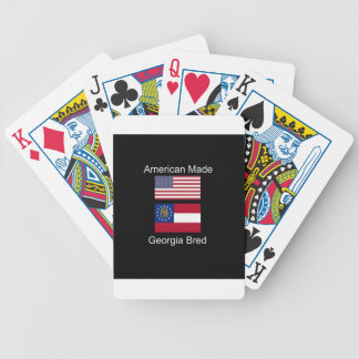 """American Born..Georgia Bred"" Flags and Patriotism Bicycle Playing Cards"