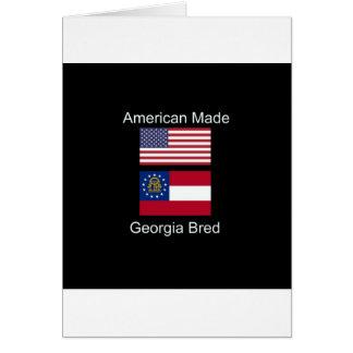 """American Born..Georgia Bred"" Flags and Patriotism Card"