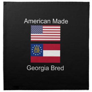 """American Born..Georgia Bred"" Flags and Patriotism Cloth Napkins"