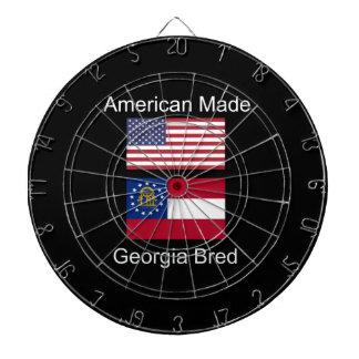 """American Born..Georgia Bred"" Flags and Patriotism Dartboard"