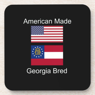 """""""American Born..Georgia Bred"""" Flags and Patriotism Drink Coasters"""