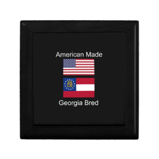 """American Born..Georgia Bred"" Flags and Patriotism Gift Box"