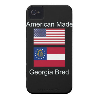 """American Born..Georgia Bred"" Flags and Patriotism iPhone 4 Case-Mate Case"