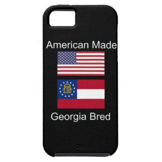 """American Born..Georgia Bred"" Flags and Patriotism iPhone 5 Case"