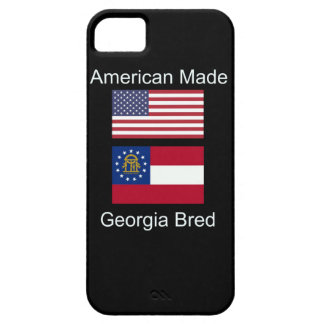 """American Born..Georgia Bred"" Flags and Patriotism iPhone 5 Cases"