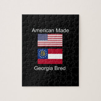 """""""American Born..Georgia Bred"""" Flags and Patriotism Jigsaw Puzzle"""