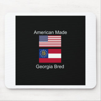 """American Born..Georgia Bred"" Flags and Patriotism Mouse Pad"