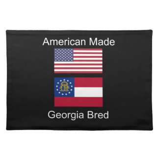 """American Born..Georgia Bred"" Flags and Patriotism Placemat"