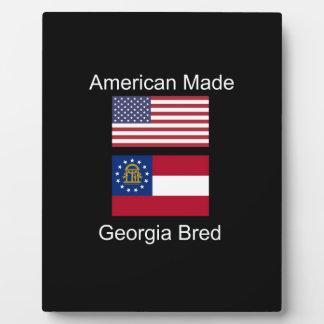 """""""American Born..Georgia Bred"""" Flags and Patriotism Plaque"""