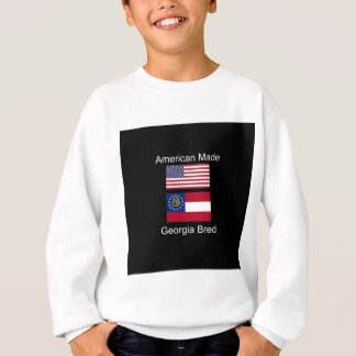 """American Born..Georgia Bred"" Flags and Patriotism Sweatshirt"