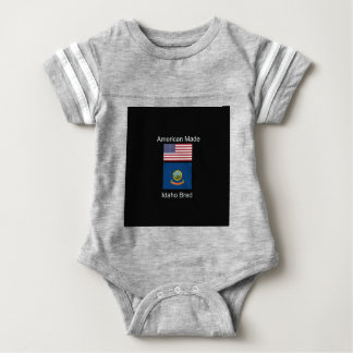 """""""American Born..Idaho Bred"""" Flags and Patriotism Baby Bodysuit"""