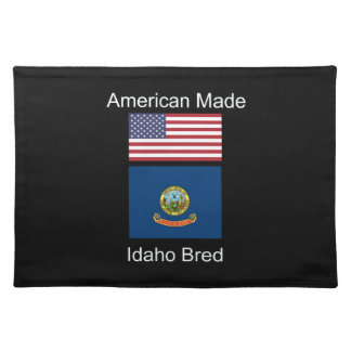 """""""American Born..Idaho Bred"""" Flags and Patriotism Placemat"""