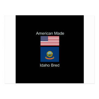 """American Born..Idaho Bred"" Flags and Patriotism Postcard"
