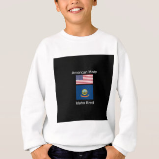 """American Born..Idaho Bred"" Flags and Patriotism Sweatshirt"