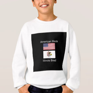 """American Born..Illinois Bred"" Flag Design Sweatshirt"