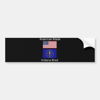 """""""American Born..Indiana Bred"""" Flags and Patriotism Bumper Sticker"""