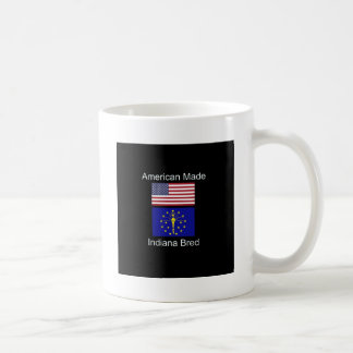 """American Born..Indiana Bred"" Flags and Patriotism Coffee Mug"