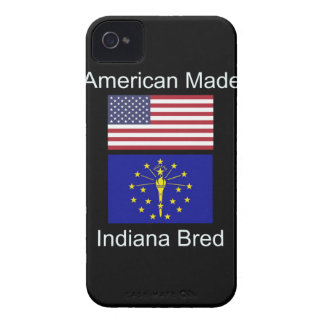 """American Born..Indiana Bred"" Flags and Patriotism iPhone 4 Case-Mate Case"