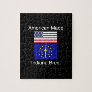 """American Born..Indiana Bred"" Flags and Patriotism Jigsaw Puzzle"