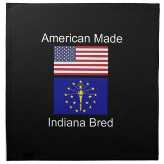"""American Born..Indiana Bred"" Flags and Patriotism Napkin"