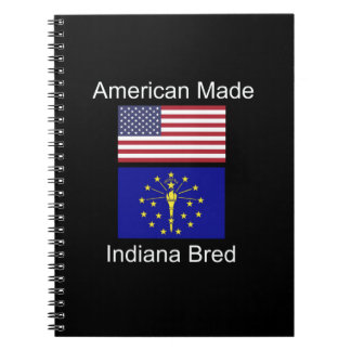 """American Born..Indiana Bred"" Flags and Patriotism Notebooks"