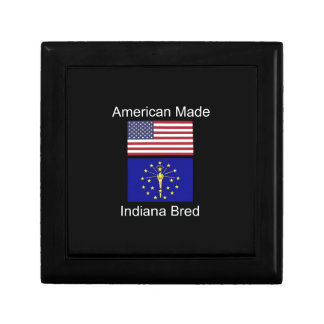 """""""American Born..Indiana Bred"""" Flags and Patriotism Trinket Boxes"""