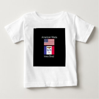 """American Born..Iowa Bred"" Flags and Patriotism Baby T-Shirt"