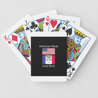 """American Born..Iowa Bred"" Flags and Patriotism Bicycle Playing Cards"