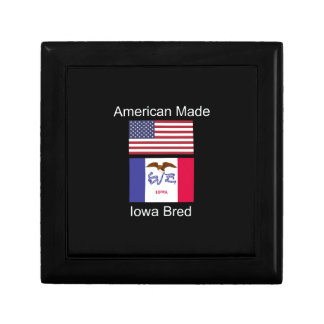 """""""American Born..Iowa Bred"""" Flags and Patriotism Gift Box"""