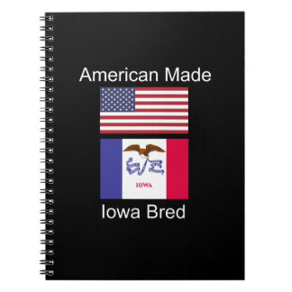 """American Born..Iowa Bred"" Flags and Patriotism Notebooks"