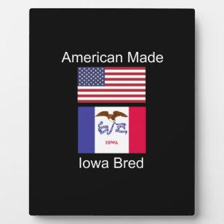 """American Born..Iowa Bred"" Flags and Patriotism Plaque"