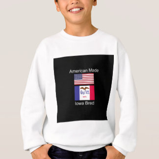 """American Born..Iowa Bred"" Flags and Patriotism Sweatshirt"
