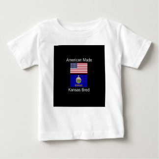 """American Born..Kansas Bred"" Flags and Patriotism Baby T-Shirt"