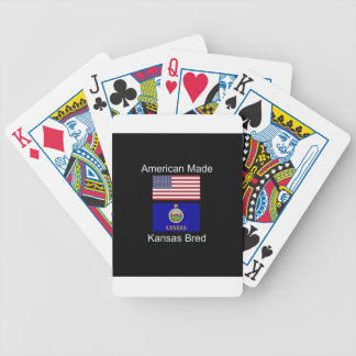 """American Born..Kansas Bred"" Flags and Patriotism Bicycle Playing Cards"