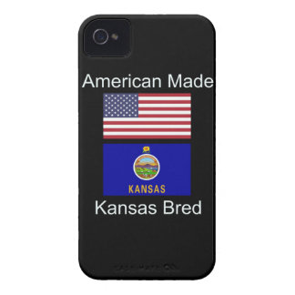 """""""American Born..Kansas Bred"""" Flags and Patriotism iPhone 4 Cover"""